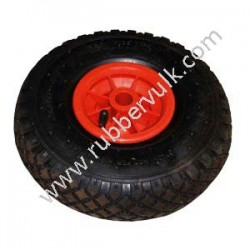 TIRE+WHEEL 300X4 2PR(+TUBE FREE)