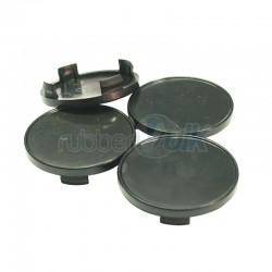 WHEEL CAP BLACK 46MM (4 PCS)