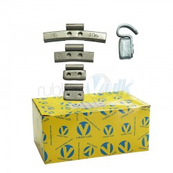 CLIP-ON FE BALANCE WEIGHTS FOR STEEL WHEEL, 25 G (100 UND)