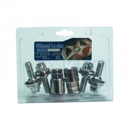 BLISTER 4BOLTS+2KEY LENGTH: 54MM, BOLT 28MM, KEY 17&19, M12X1.25