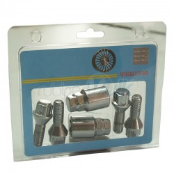 BLISTER, 4BOLTS+2KEY LENGTH:54MM, BOLT 28MM, KEY 17&19, M12X1.50