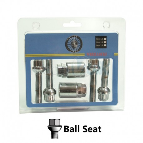 BLISTER, 4BOLTS+2KEY BALL SEAT, KEY 17&19, M14X1.50X45MM