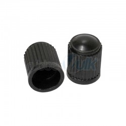 PLASTIC VALVE CAP BLACK (100 PCS)