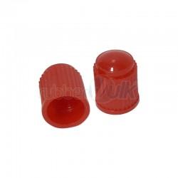 PLASTIC VALVE CAPS, RED (100 PCS)