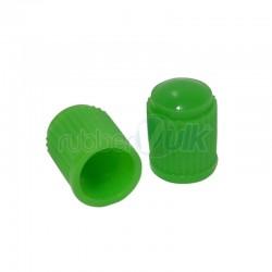 CAPPELLETTI VALVOLE IN PLASTICA VERDE (100 PZ)