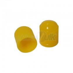 PLASTIC VALVE CAP YELLOW (100 PCS)