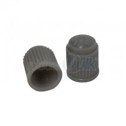 CAPPELLETTI VALVOLE IN PLASTICA GRIGI (100 PZ)