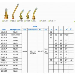 EUROPEAN SYTLE O-RING SEAL CLAMP-IN BRASS VALVE (10 PCS)
