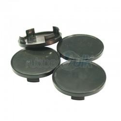 WHEEL CAP BLACK 70MM (4 PCS)