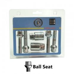 BLISTER, 4BOLTS+2KEY BALL SEAT, KEY 17&19, M14X1.50X45MM