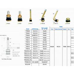 TUBELSS METAL CLAMP-IN VALVES (10pcs)